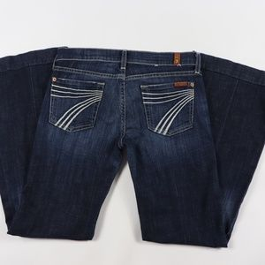 7 For All Mankind Dojo Flare Jeans Size 26 Blue